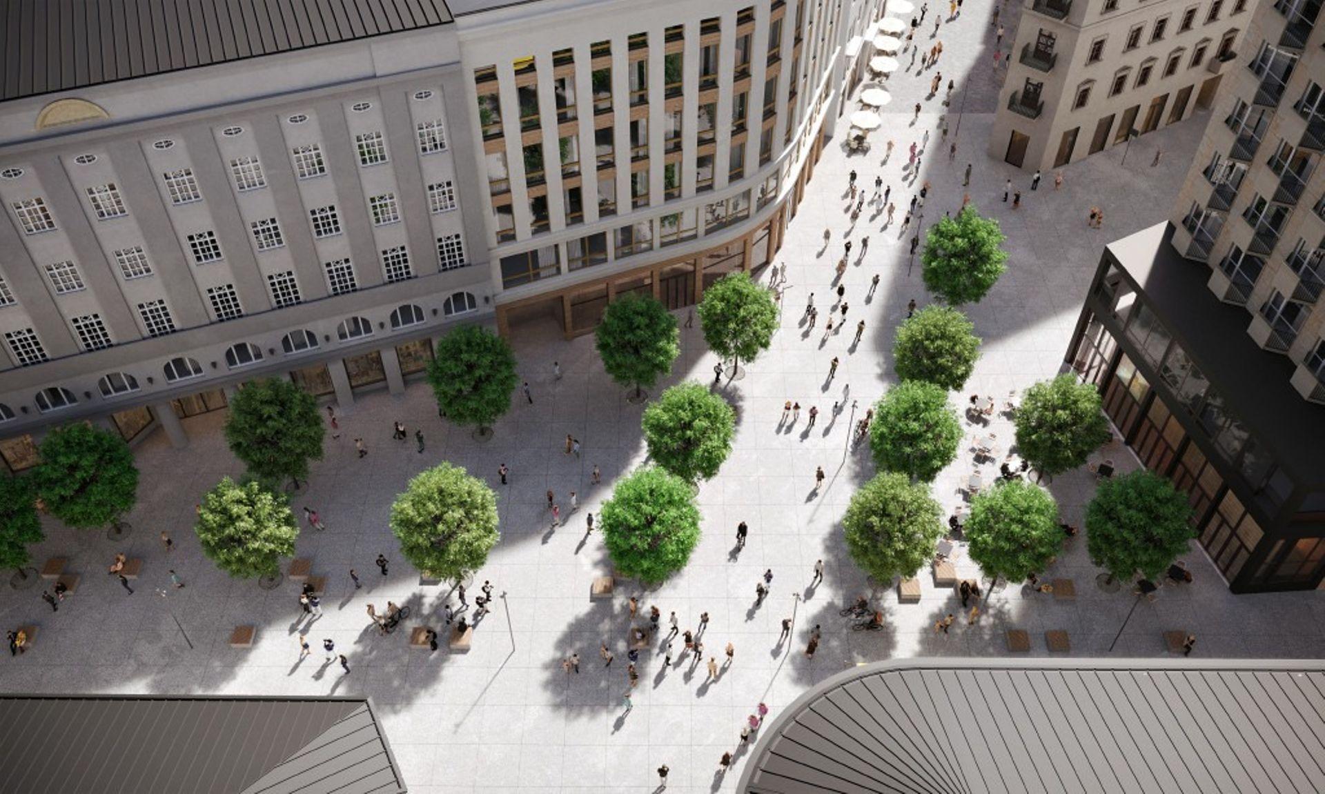 Trwają prace przy przebudowie Placu Pięciu Rogów w Warszawie [FILM]