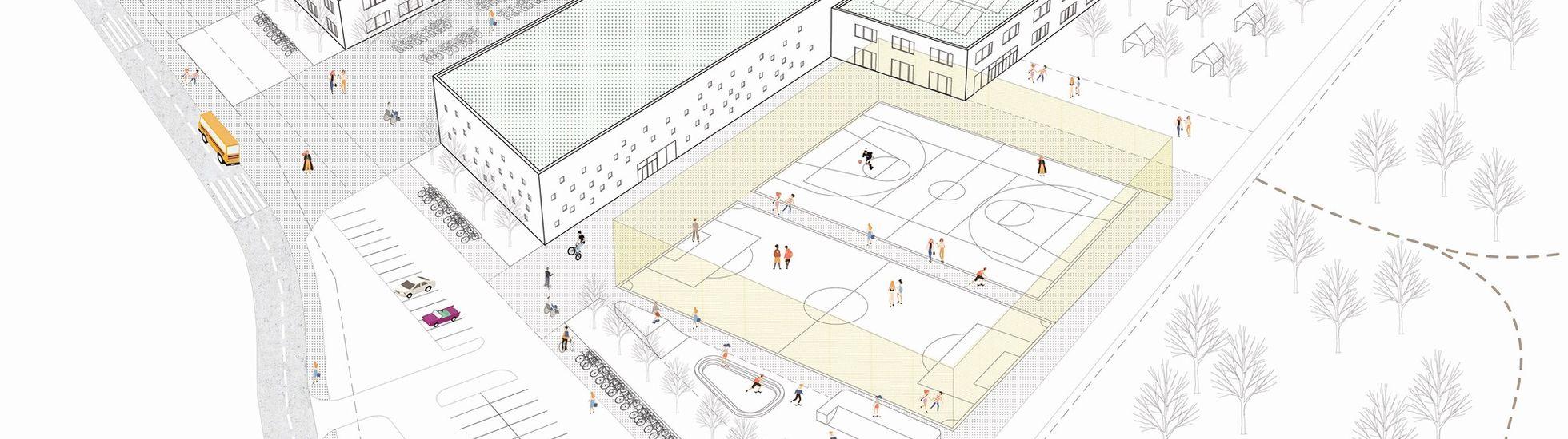 Wrocław: Tak ma wyglądać szkoła na granicy Jagodna i Wojszyc. Konkurs rozstrzygnięty