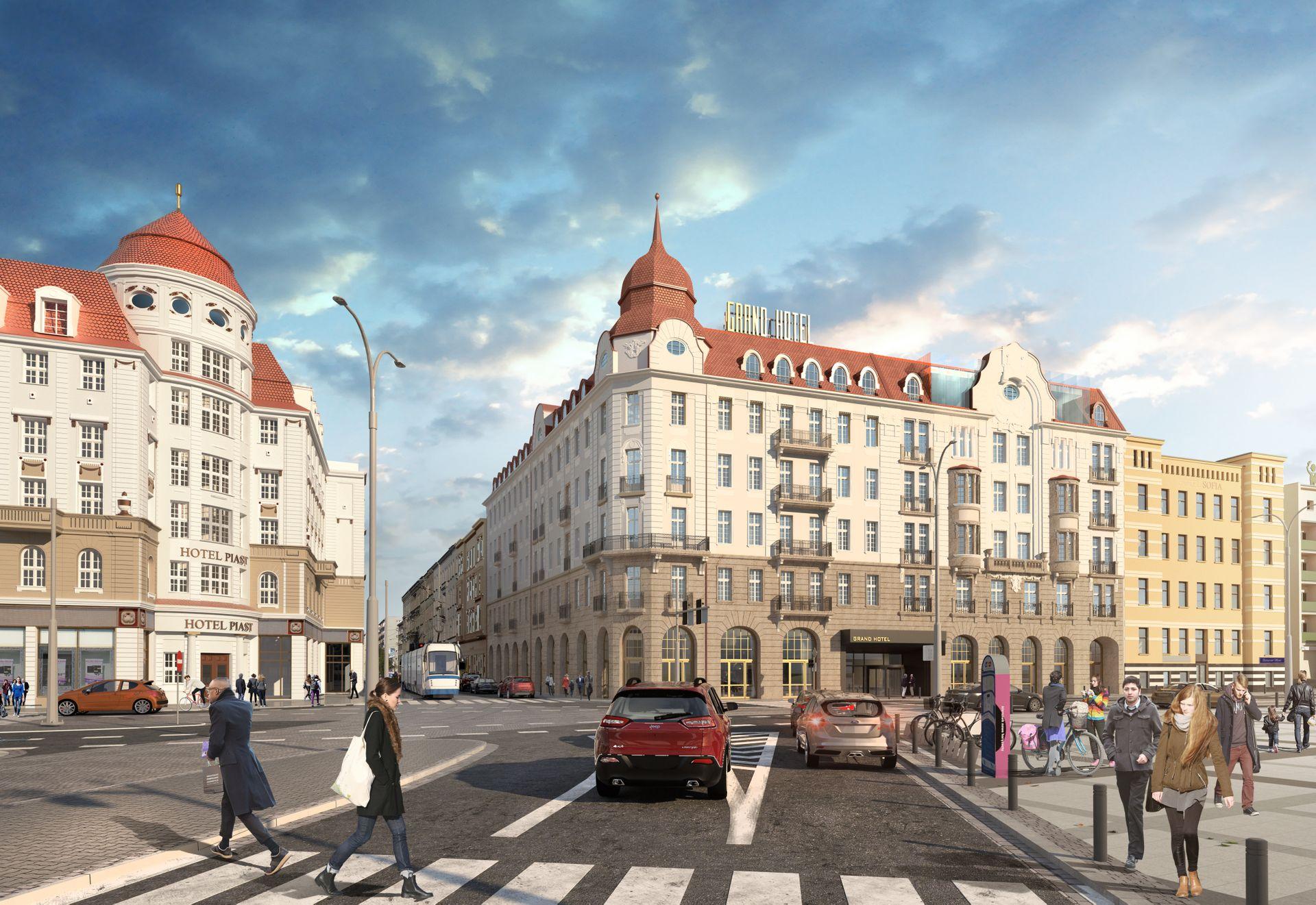 W centrum Wrocławia trwa przebudowa Hotelu Grand [FILM + ZDJĘCIA]