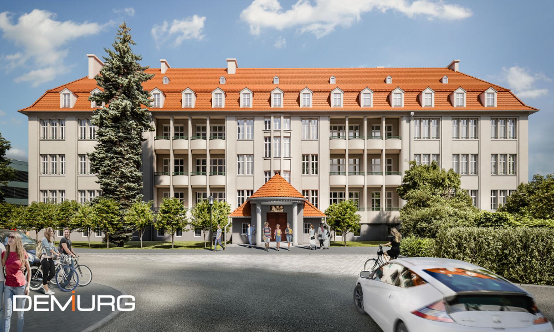 Politechnika Wrocławska remontuje zabytkową klinikę. Tak będzie wyglądać