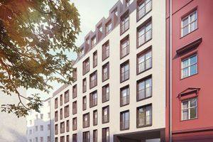 Wrocław: Nowy Targ – Castellum buduje apartamentowiec z ponadstumetrowym penthousem w ścisłym centrum [WIZUALIZACJE]