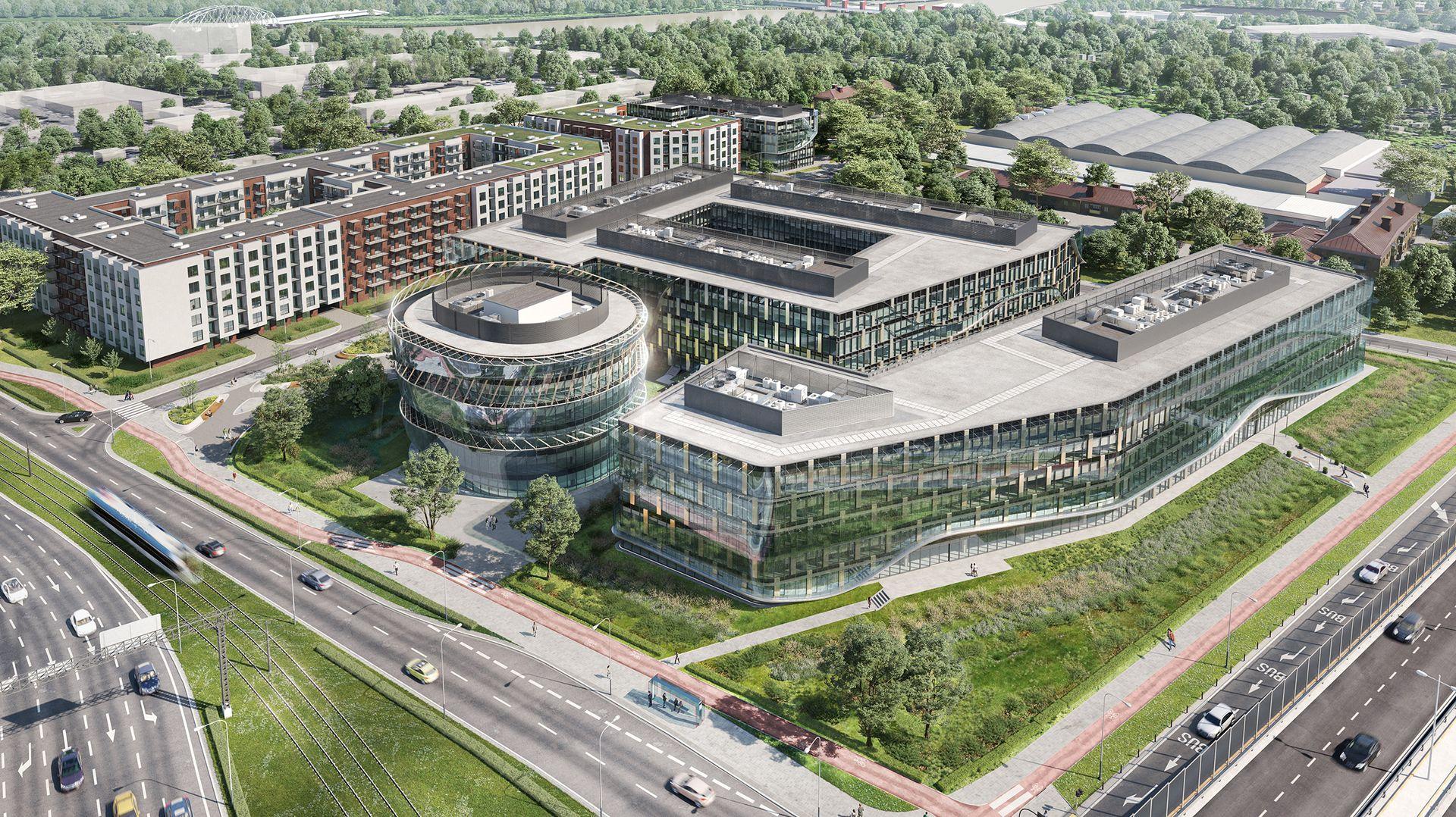 Cavatina Holding buduje w Krakowie kompleks biurowy Ocean Office Park [ZDJĘCIA + WIUZALIZACJE]