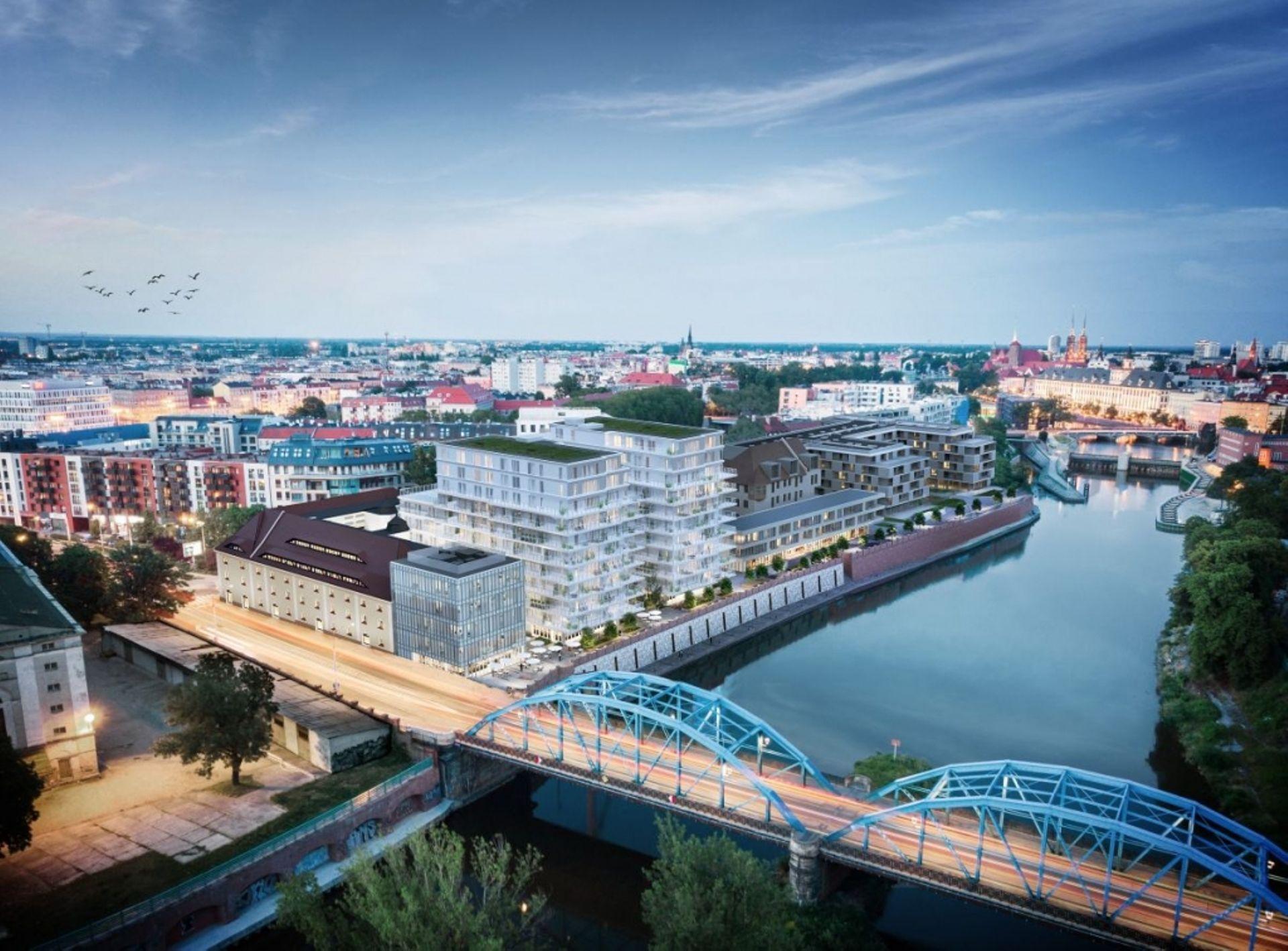Wrocław: Księcia Witolda 46 – i2 Development buduje dwie wieże przy zabytkowym spichlerzu nad Odrą