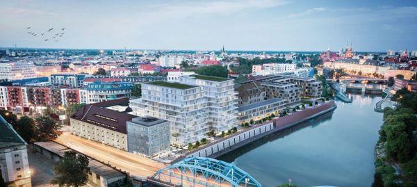 Wrocław: Księcia Witolda 46 – i2 Development buduje dwie wieże przy zabytkowym spichlerzu nad Odrą [WIZUALIZACJE]
