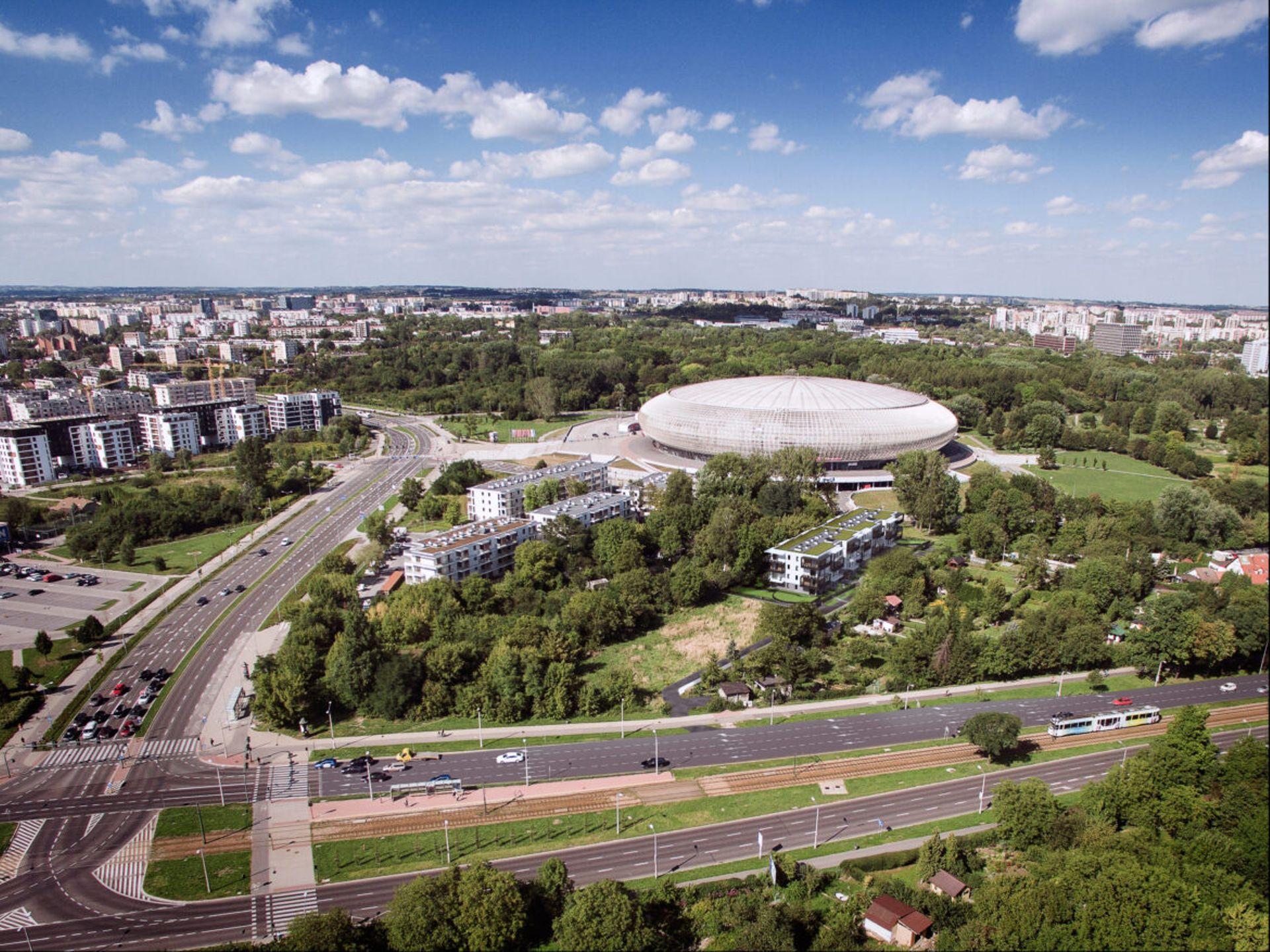 Kraków: Aleja Pokoju 52 – nowe osiedle powstaje przy Tauron Arenie