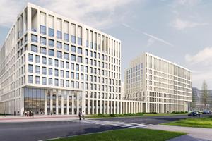 W Krakowie trwa budowa kompleksu biurowego Brain Park [ZDJĘCIA + WIZUALIZACJE]