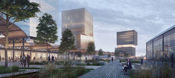 Wrocław: Więcej wież i przestrzeń otwarta dla mieszkańców. Tak może się zmienić teren przy Dworcu Głównym [WIZUALIZACJE]