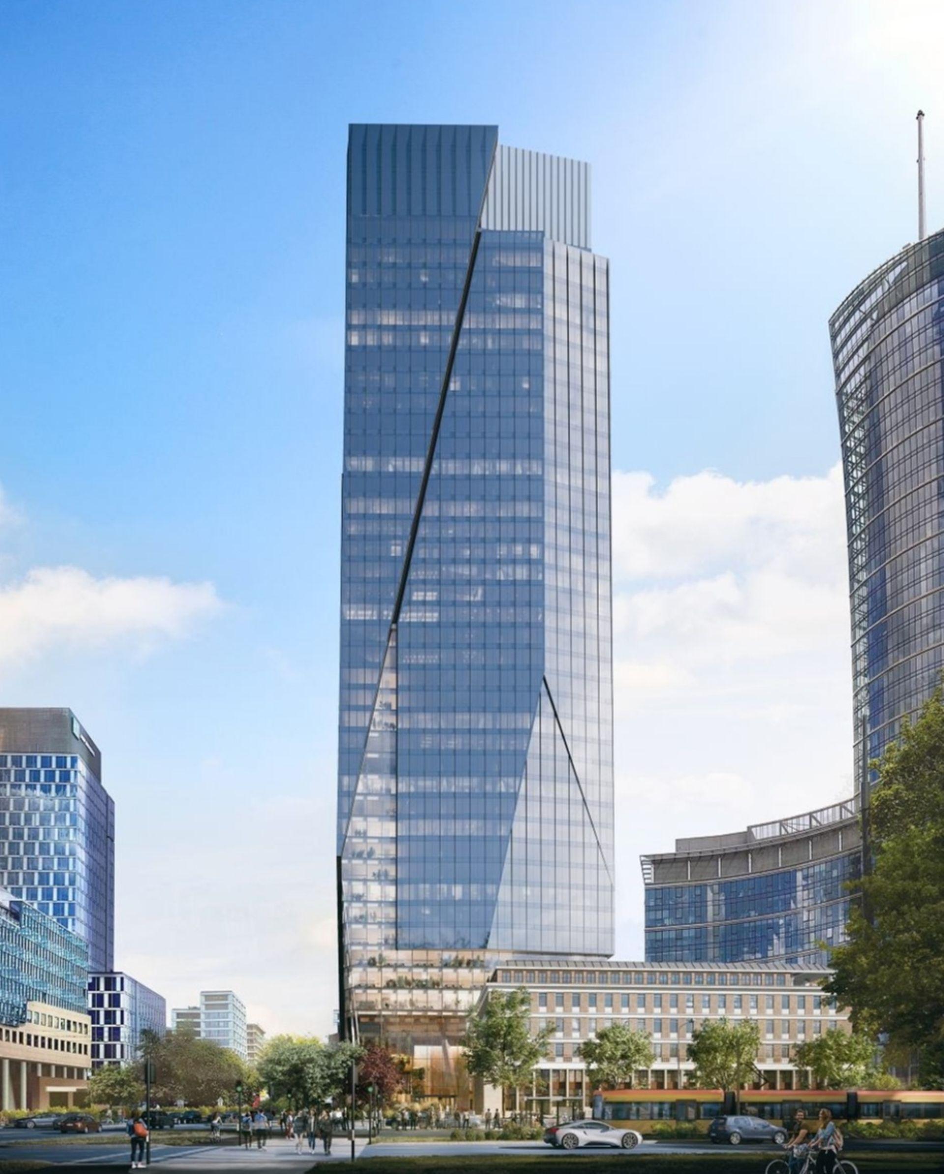 Ghelamco rozpoczęło przygotowania do budowy 174 metrowego wieżowca The Bridge [ZDJĘCIA + WIZUALIZACJE]