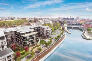 Wrocław: Księcia Witolda – były koszary, będą mieszkania. Dom Development rusza ze sprzedażą apartamentów nad Odrą [WIZUALIZACJE]