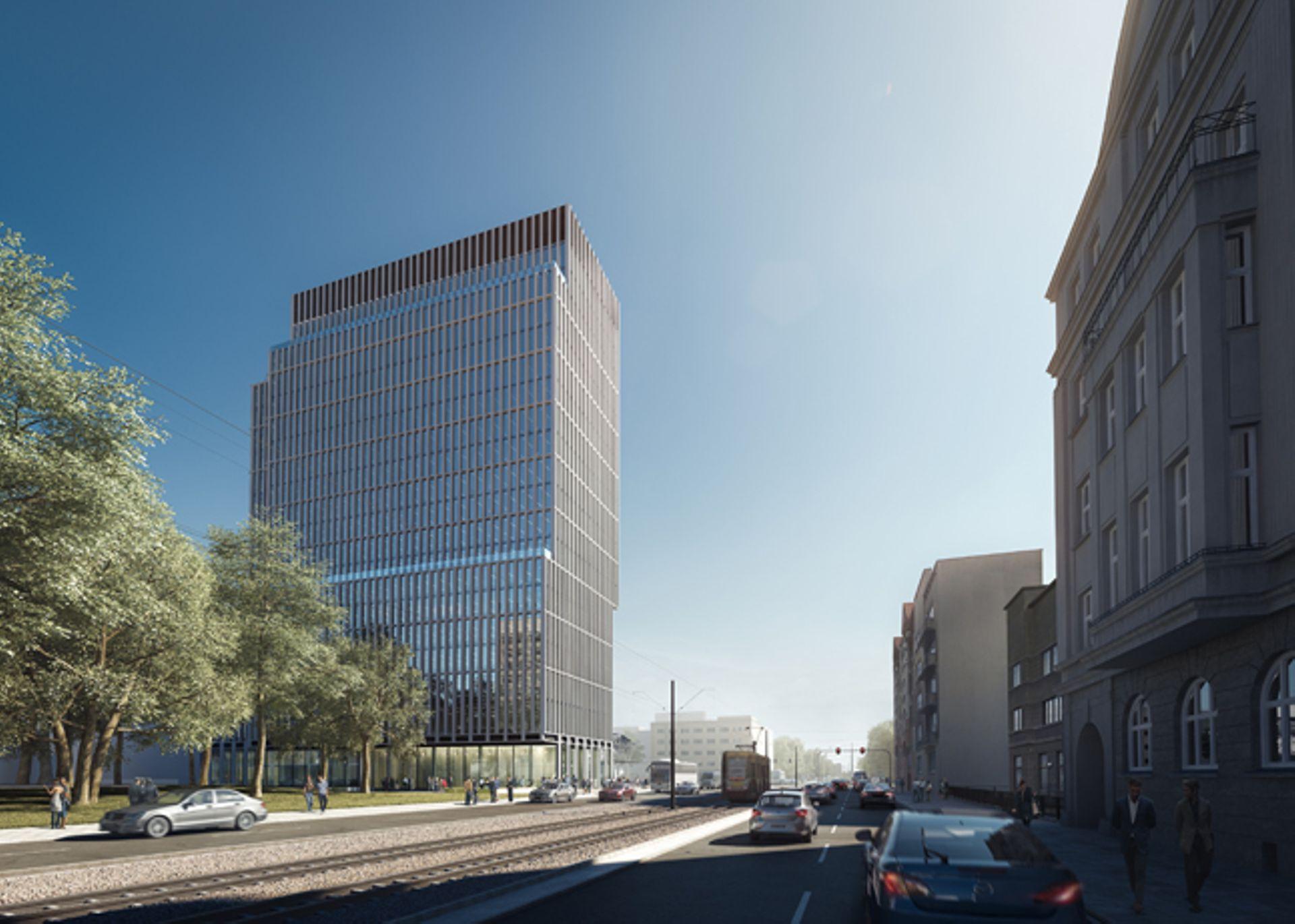 [Łódź] Wieża biurowa Hi Piotrkowska 155 w Łodzi pnie się w górę