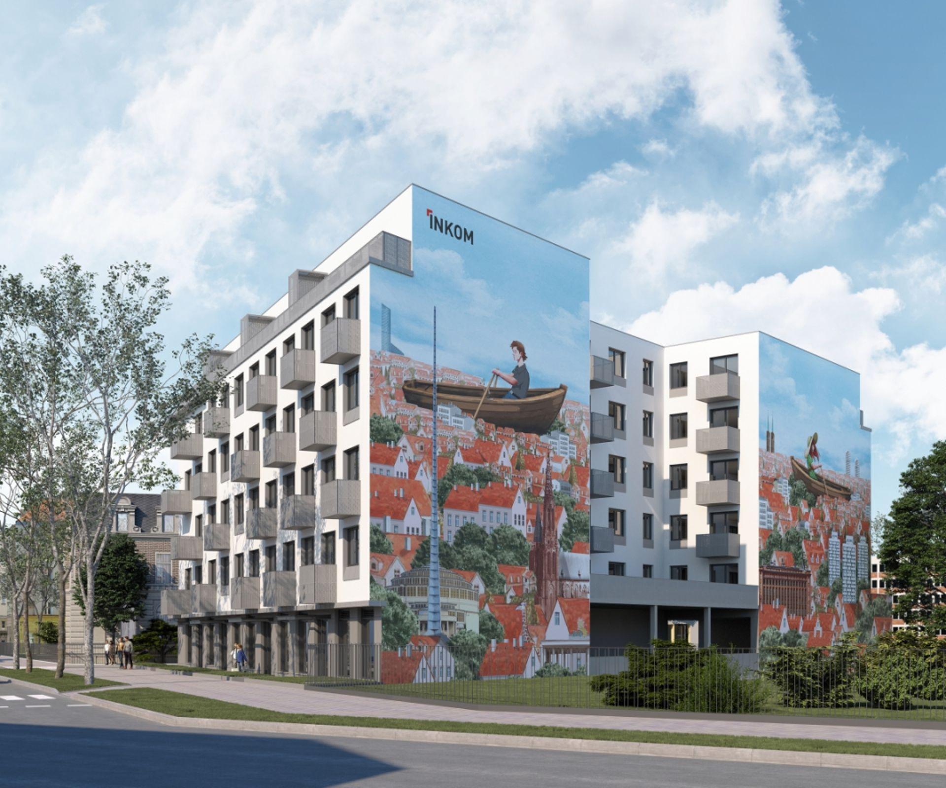 Wrocław: Gdańska 1 – Inkom postawi na Ołbinie budynek mieszkalny z muralem