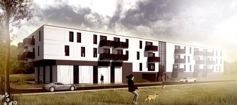 Wizualizacja budynku mieszkalno-usługowego przy ul. Gorlickiej 61 (źródło: pracownia projektowa Katarzyna Kubsik)