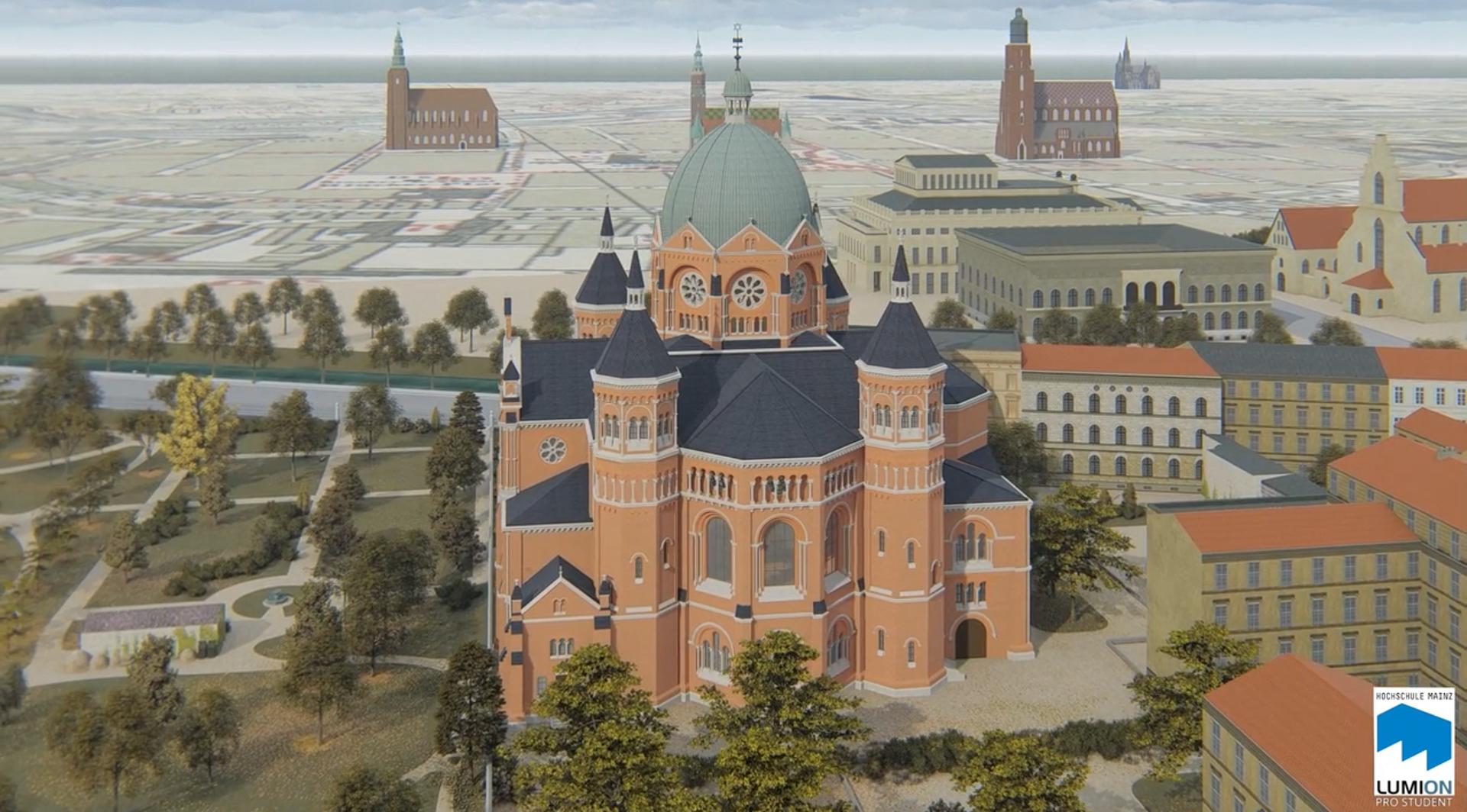 Wrocław: Stworzyli cyfrową rekonstrukcję Nowej Synagogi [FILM]