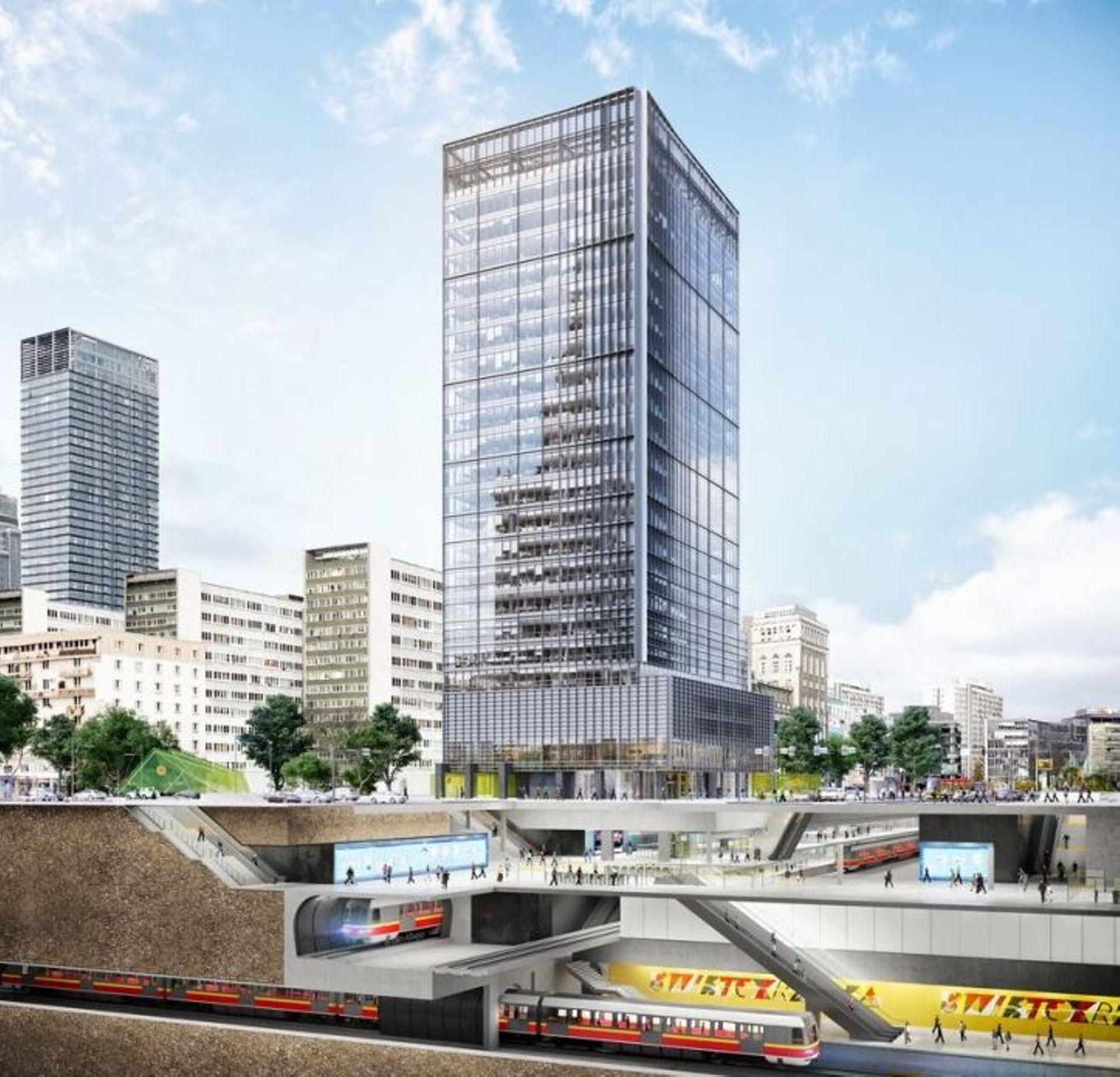 Przy ulicy Zielnej w Warszawie trwa budowa biurowca Central Point [FILM]