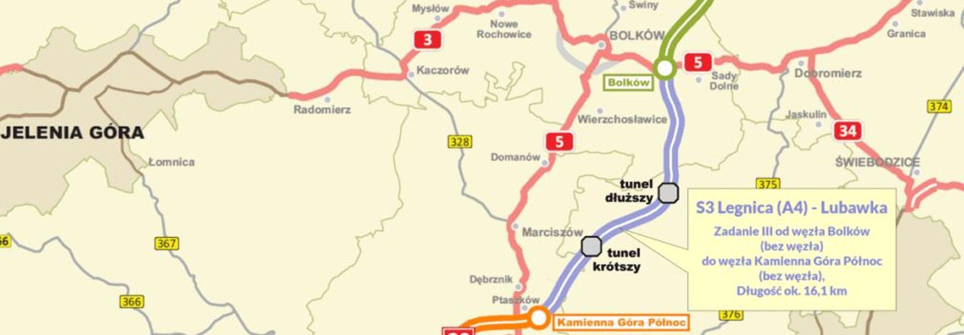Jest decyzja ZRID na budowę drogi S3 na odcinku Bolków – Kamienna Góra