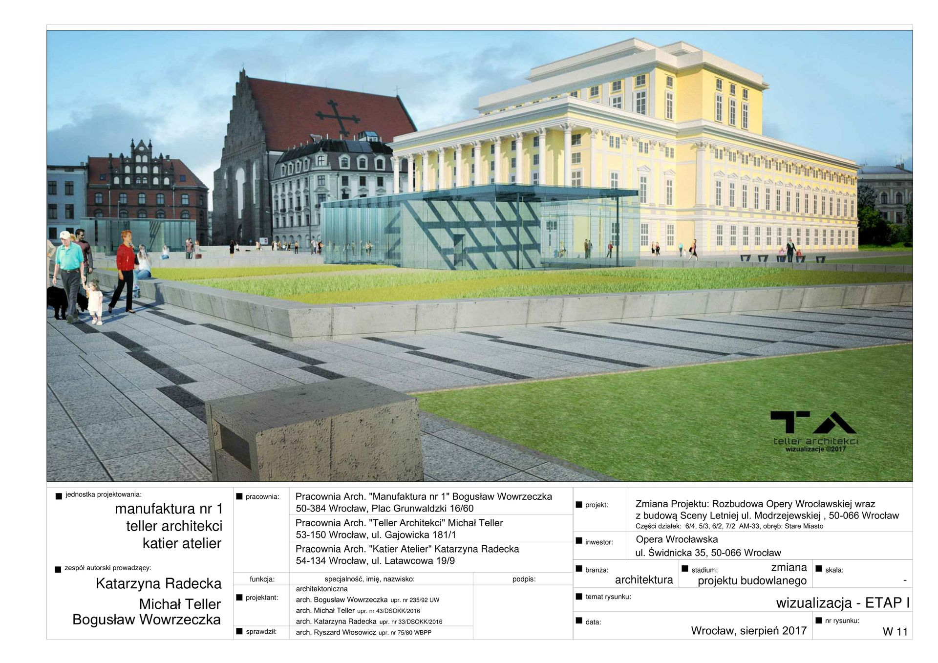 Wrocław: Opera się rozbudowuje. Powstaną Scena Letnia i nowy budynek