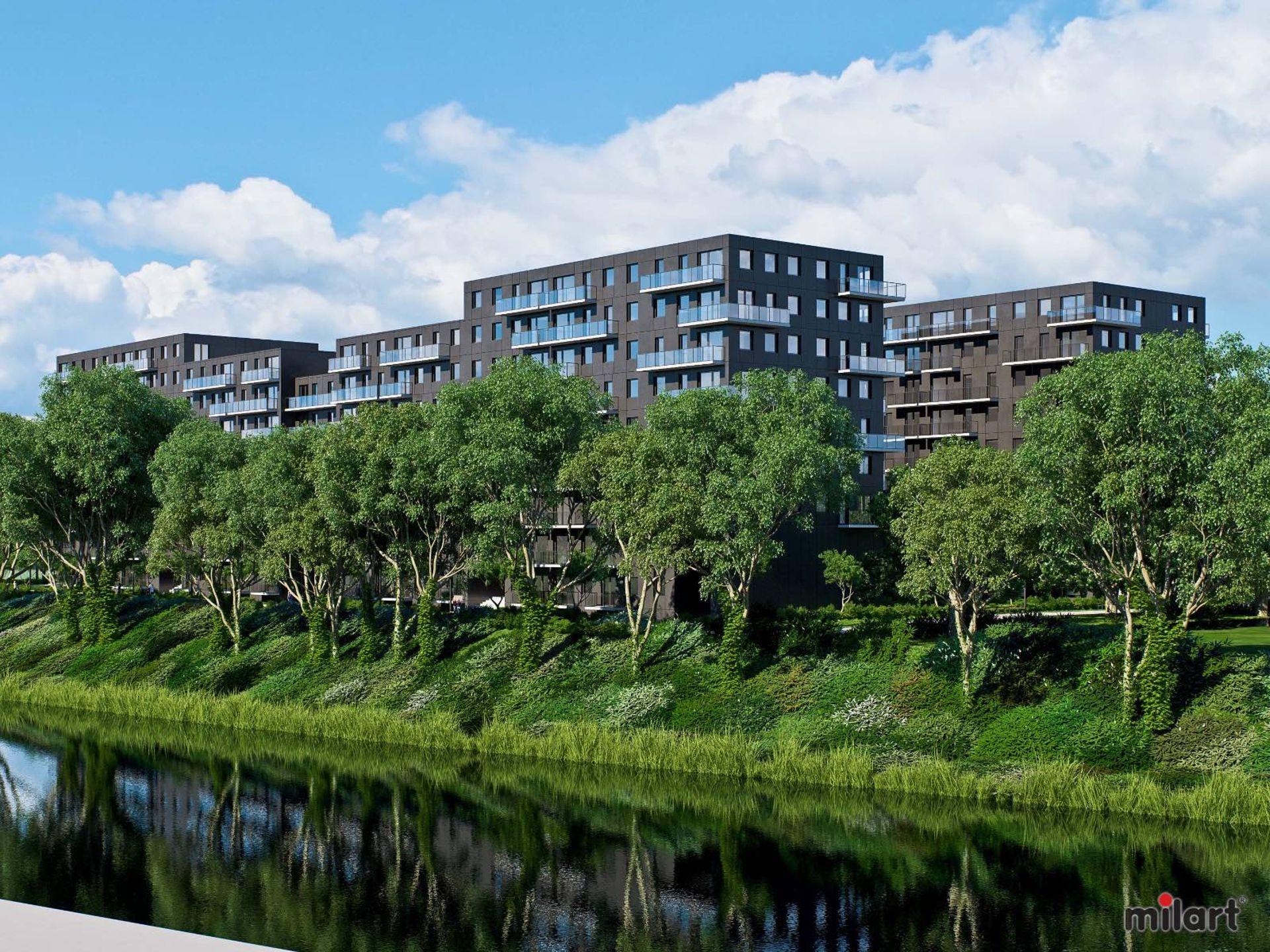 Wrocław: Kępa Mieszczańska – Milart buduje prawie 500 mieszkań i blisko 600 miejsc parkingowych na Nadodrzu