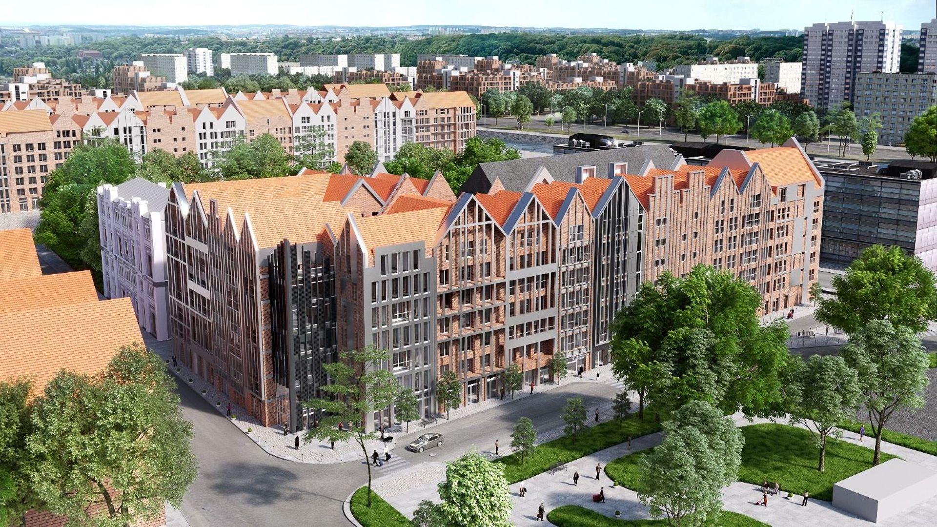 [Gdańsk] Wiecha na kompleksie Grano Residence w Gdańsku zawieszona