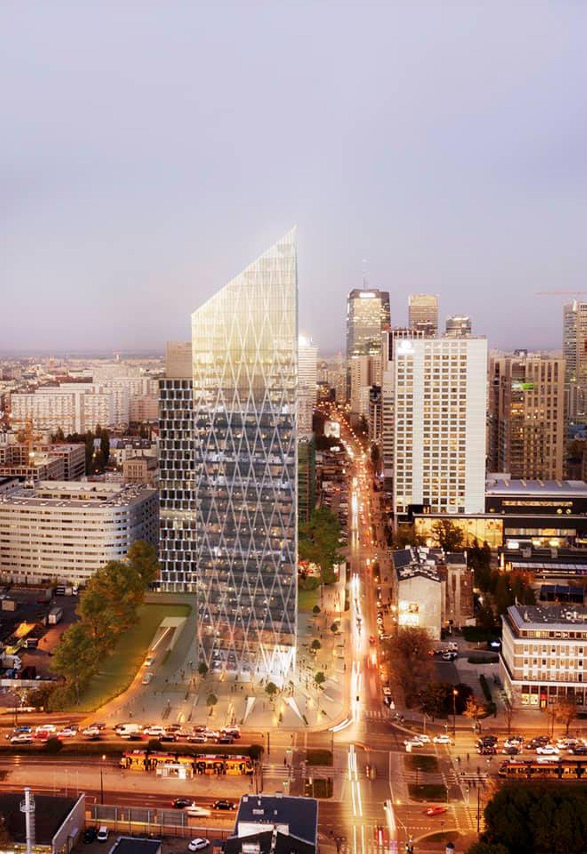 Warszawa: Nowy wieżowiec na Woli w przygotowaniu. Przekroczy sto metrów