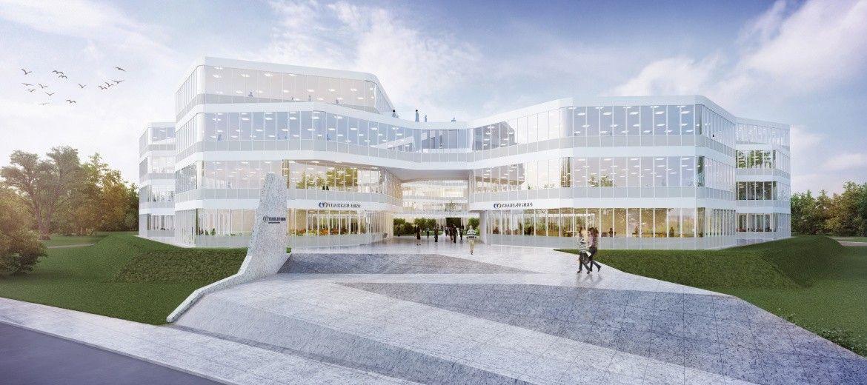 Budowa dużego kompleksu biurowego