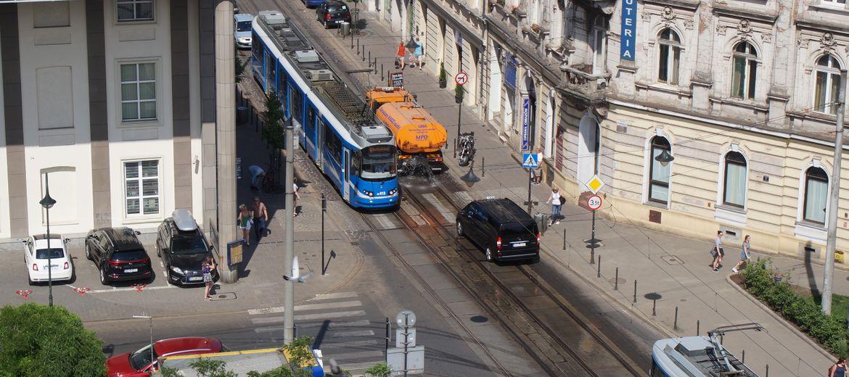 Kraków: Ulica Zwierzyniecka bez