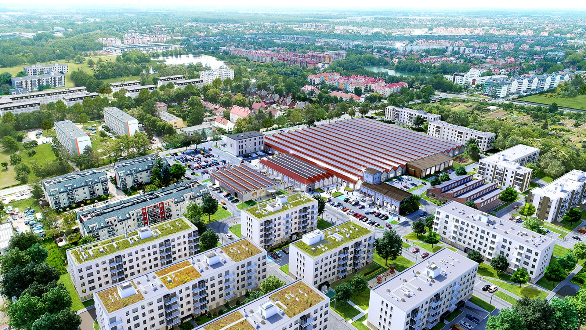 Wrocław: Centrum Stabłowicka – na Stabłowicach doczekają się parku handlowego. Na terenie drukarni Dan-Mark [WIZUALIZACJA]