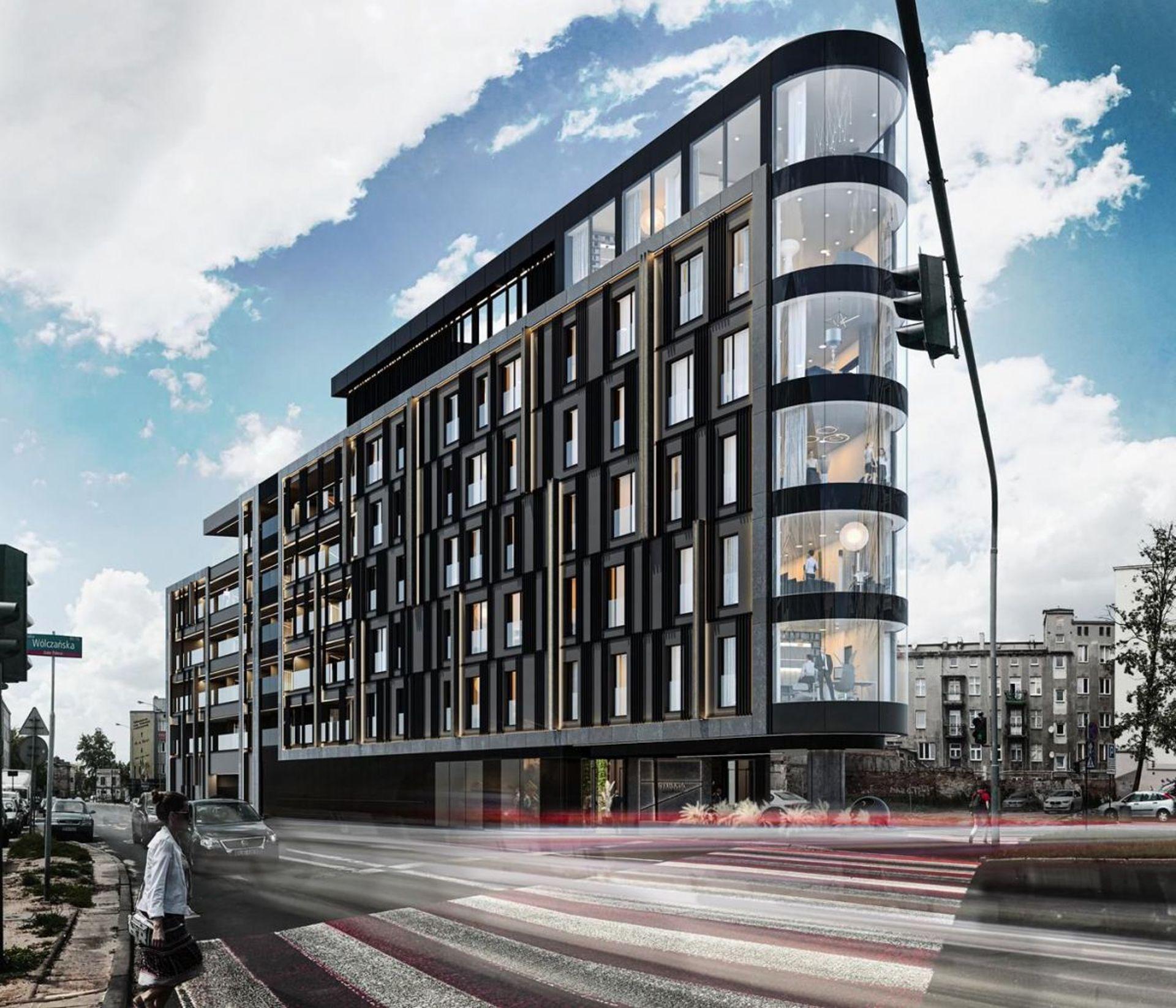 Na trójkątnej działce w Łodzi powstanie apartamentowiec New Iron