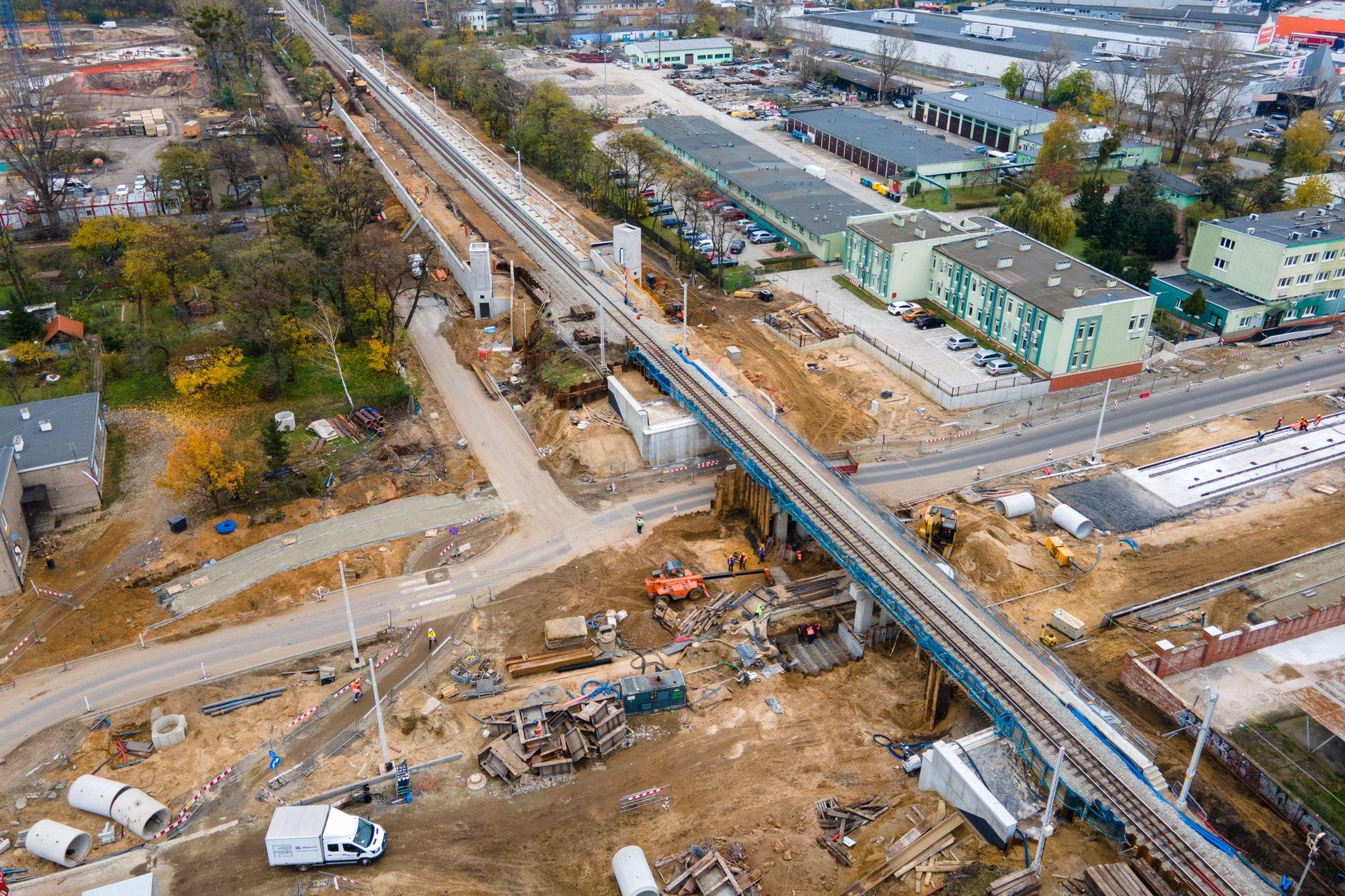 Trwa budowa nowego przystanku kolejowego Wrocław Szczepin