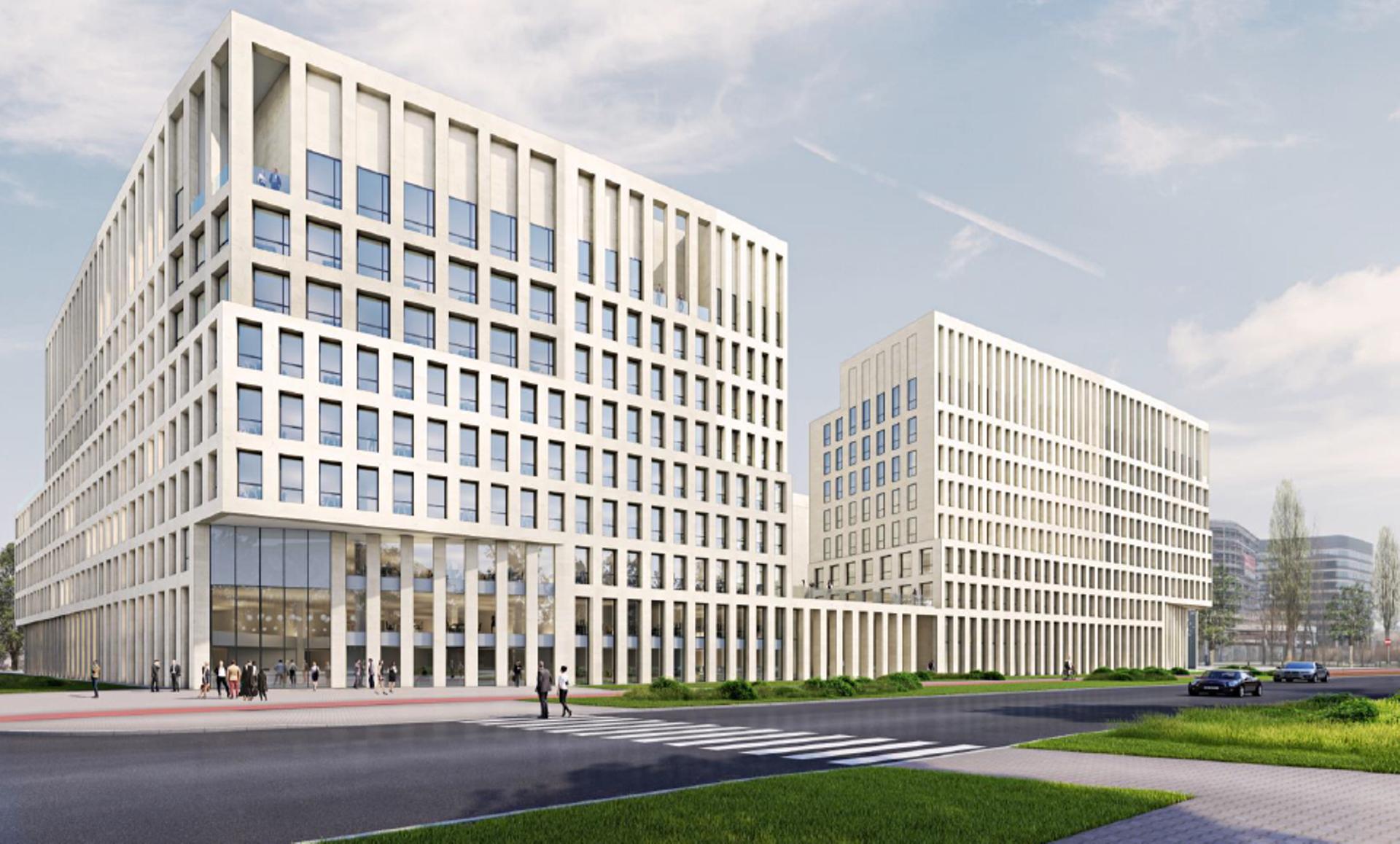W Krakowie powstaje nowy, duży kompleks biurowy Brain Park [ZDJĘCIA + WIZUALIZACJE]