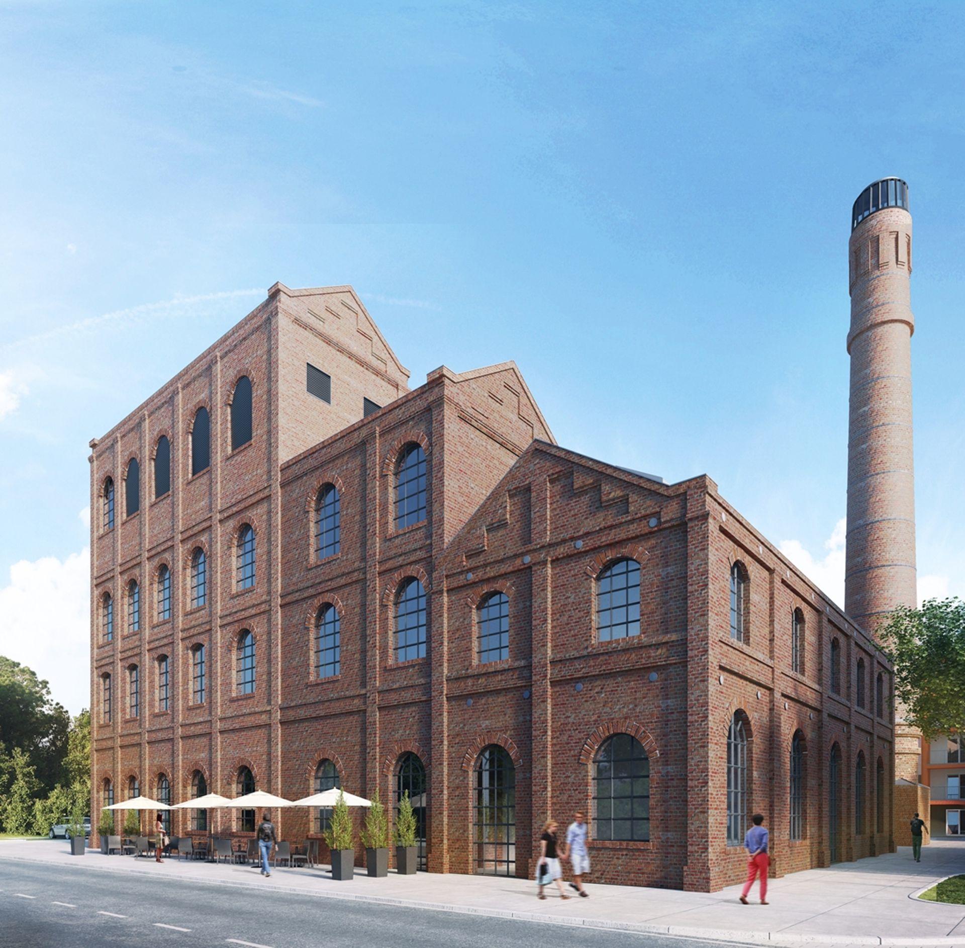 [Poznań] Przebudowa dawnej spalarni na powstającym osiedlu Wilczak 20 w Poznaniu