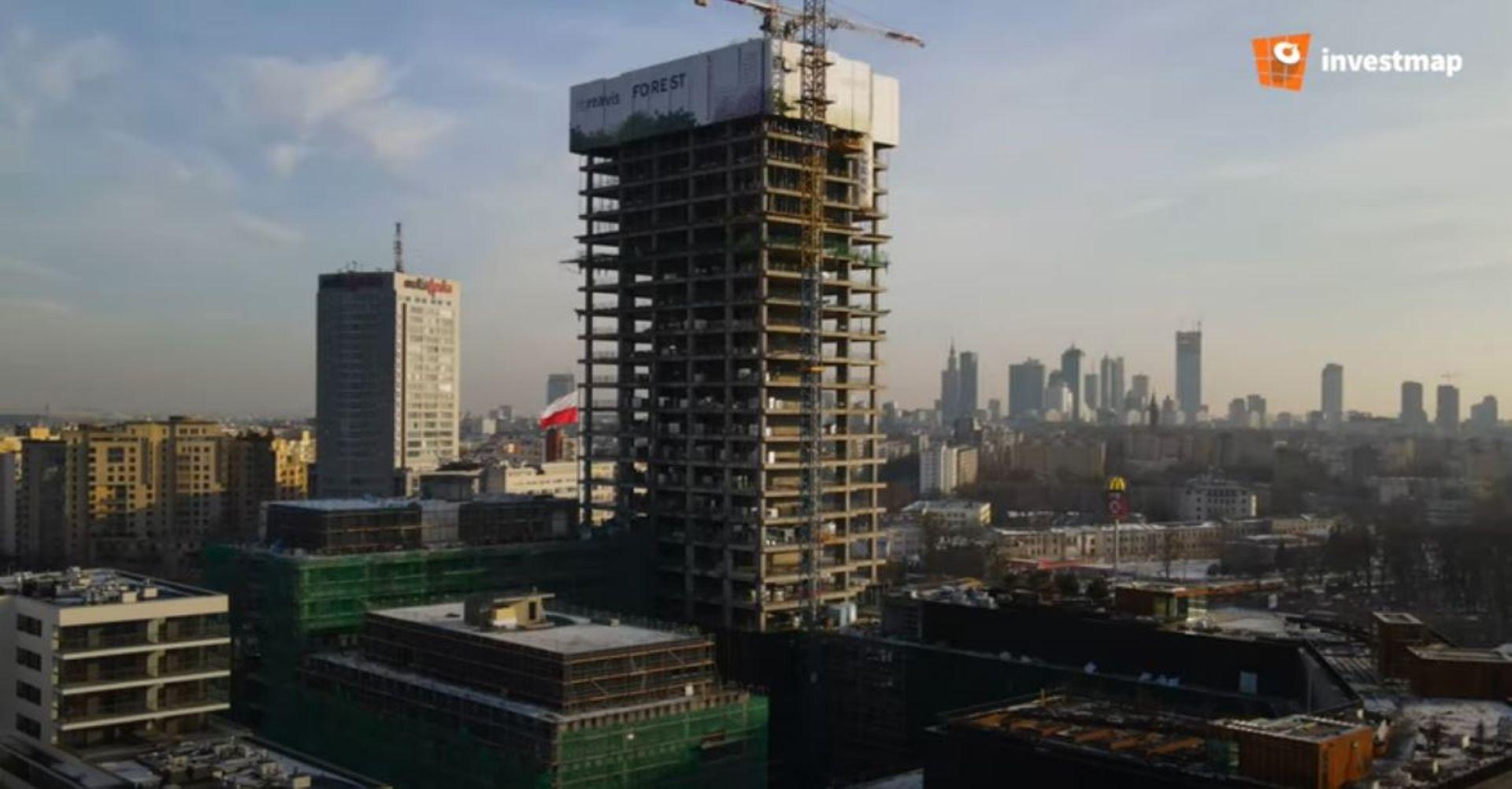 W Warszawie trwa budowa kompleksu biurowego Forest [FILM + ZDJĘCIA]