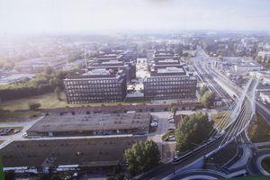 W Krakowie powstaje pierwszy biurowiec wielkiego kompleksu The Park Cracow [ZDJĘCIA + WIZUALIZACJE]