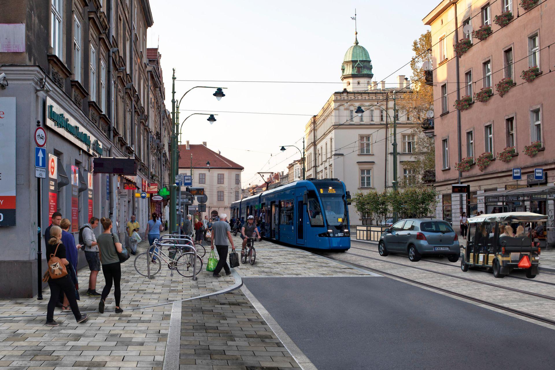 Kraków: Bliski koniec remontu ul. Krakowskiej. W sierpniu otwarcie