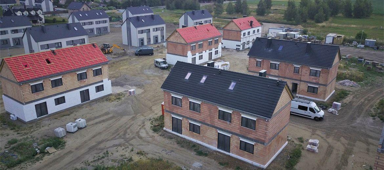 Następne domy na osiedlu