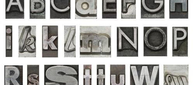 Obrazy topowych czcionek z