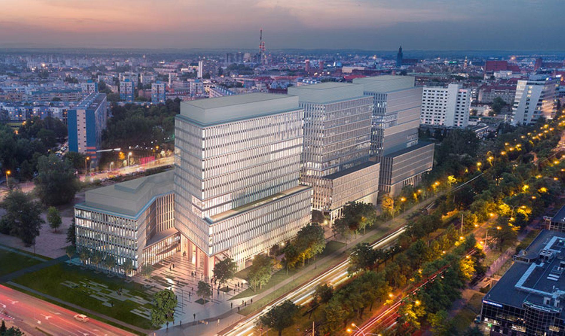 Wrocław: Skanska wmurowała kamień węgielny pod budowę kompleksu biurowego Centrum Południe