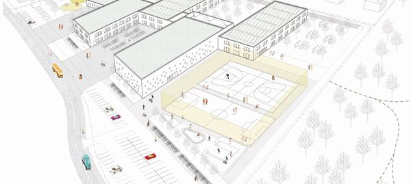 Aż 14 firm zainteresowanych budową kompleksu szkolno-przedszkolnego na granicy Jagodna i Wojszyc [WIZUALIZACJE]
