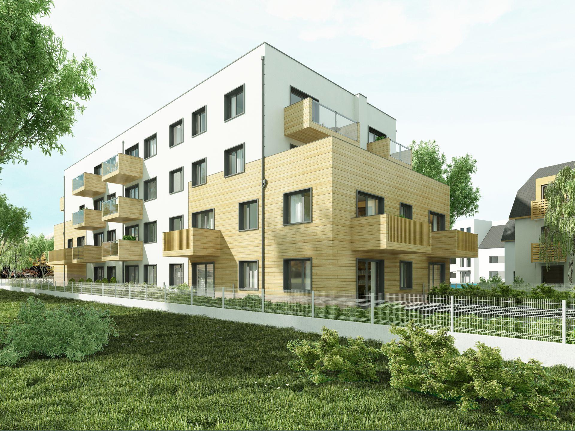 [Wrocław] Kolejna budynek mieszkalny stanie na Muchoborze Wielkim. Tak ma wyglądać [WIZUALIZACJE]