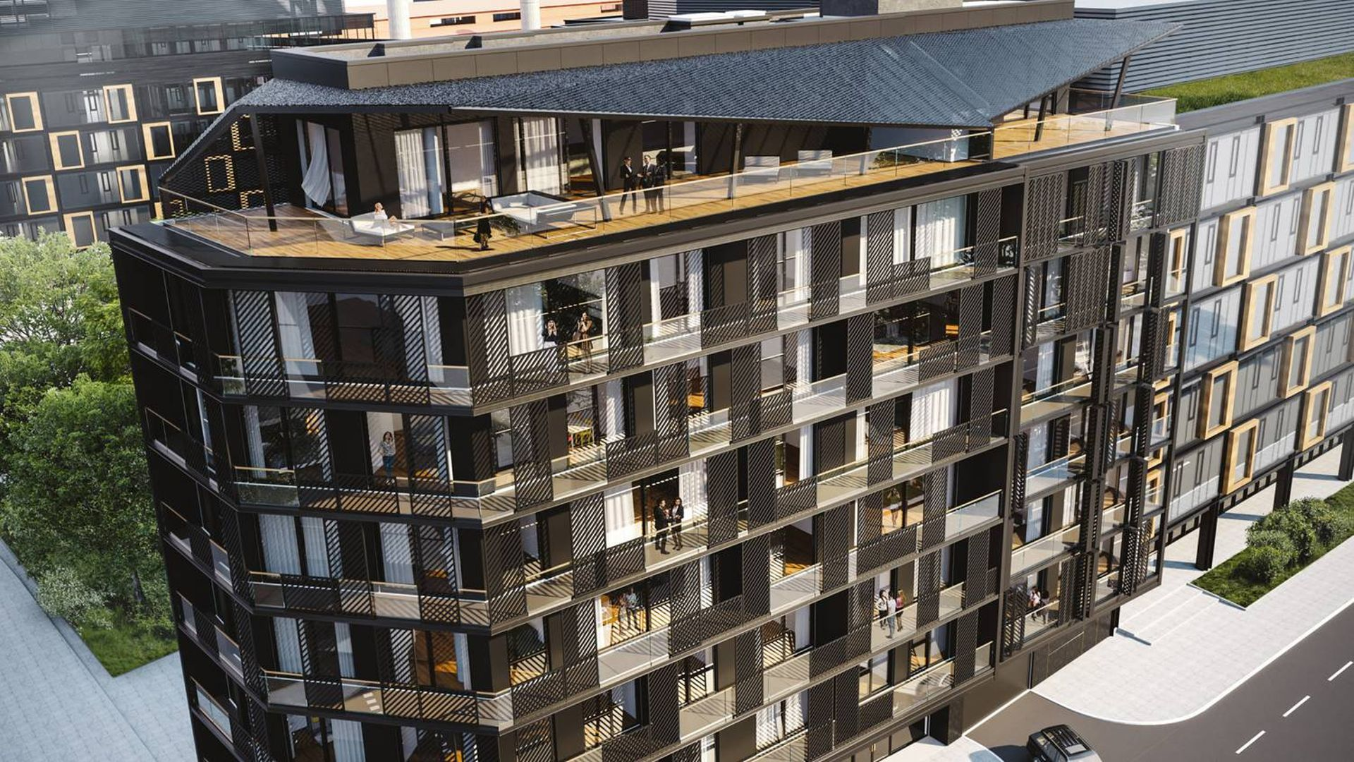 Warszawa: Dobra 32 – apartamentowiec o strukturze kryształu powstaje na Powiślu