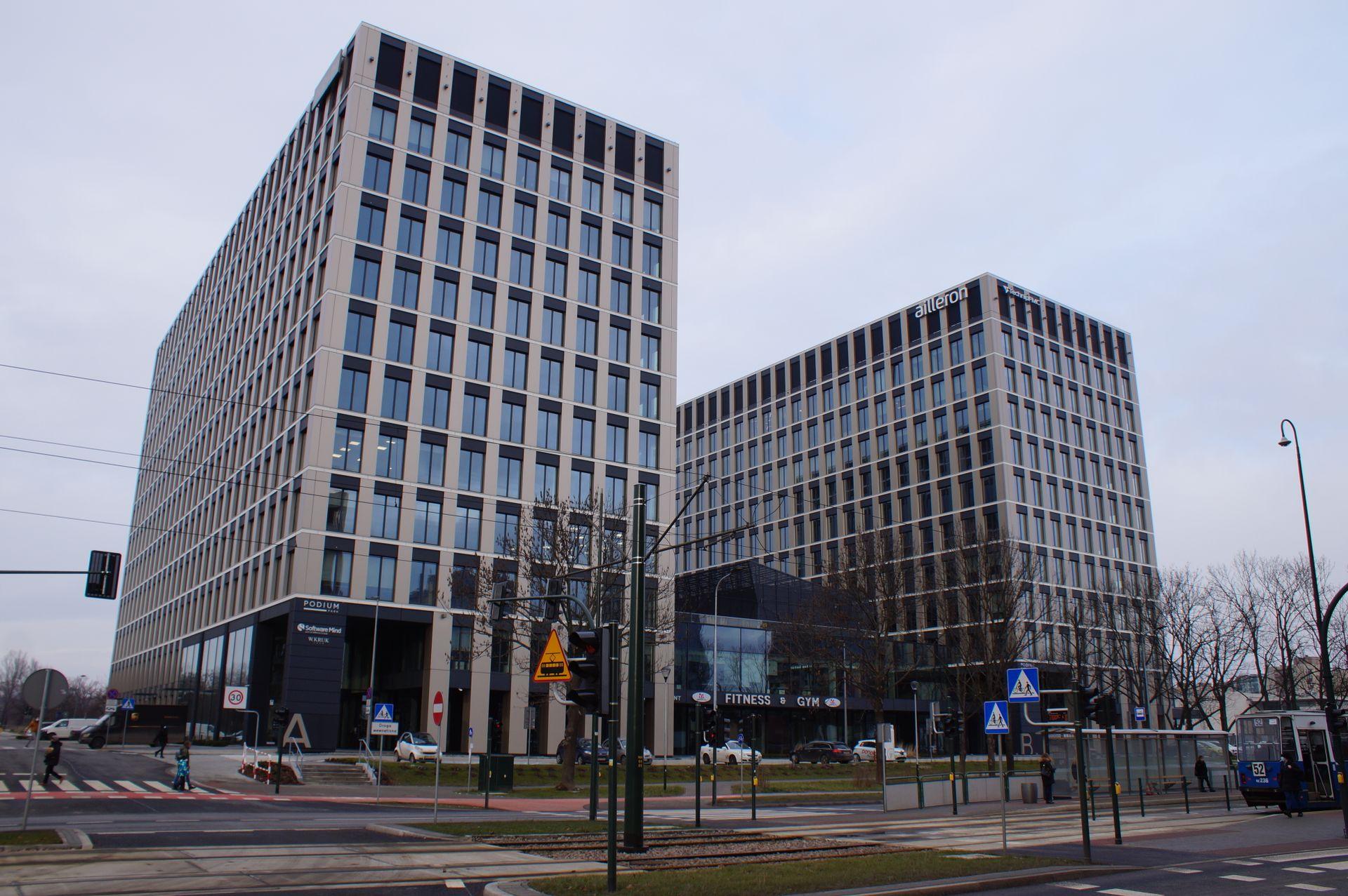 Globalworth buduje w Krakowie kompleks biurowy Podium Park [ZDJĘCIA + WIZUALIZACJE]