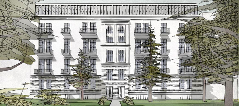 Bulwar Staromiejski: kolejny budynek