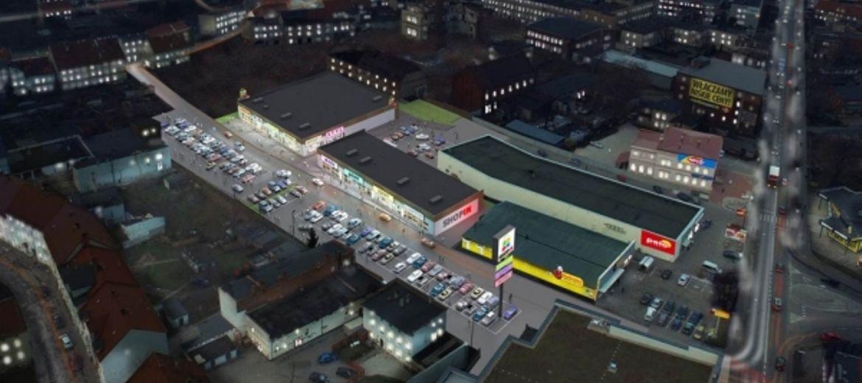 Wizualizacja parku handlowego ShopIn w Świebodzicach (źródło: materiały inwestora)