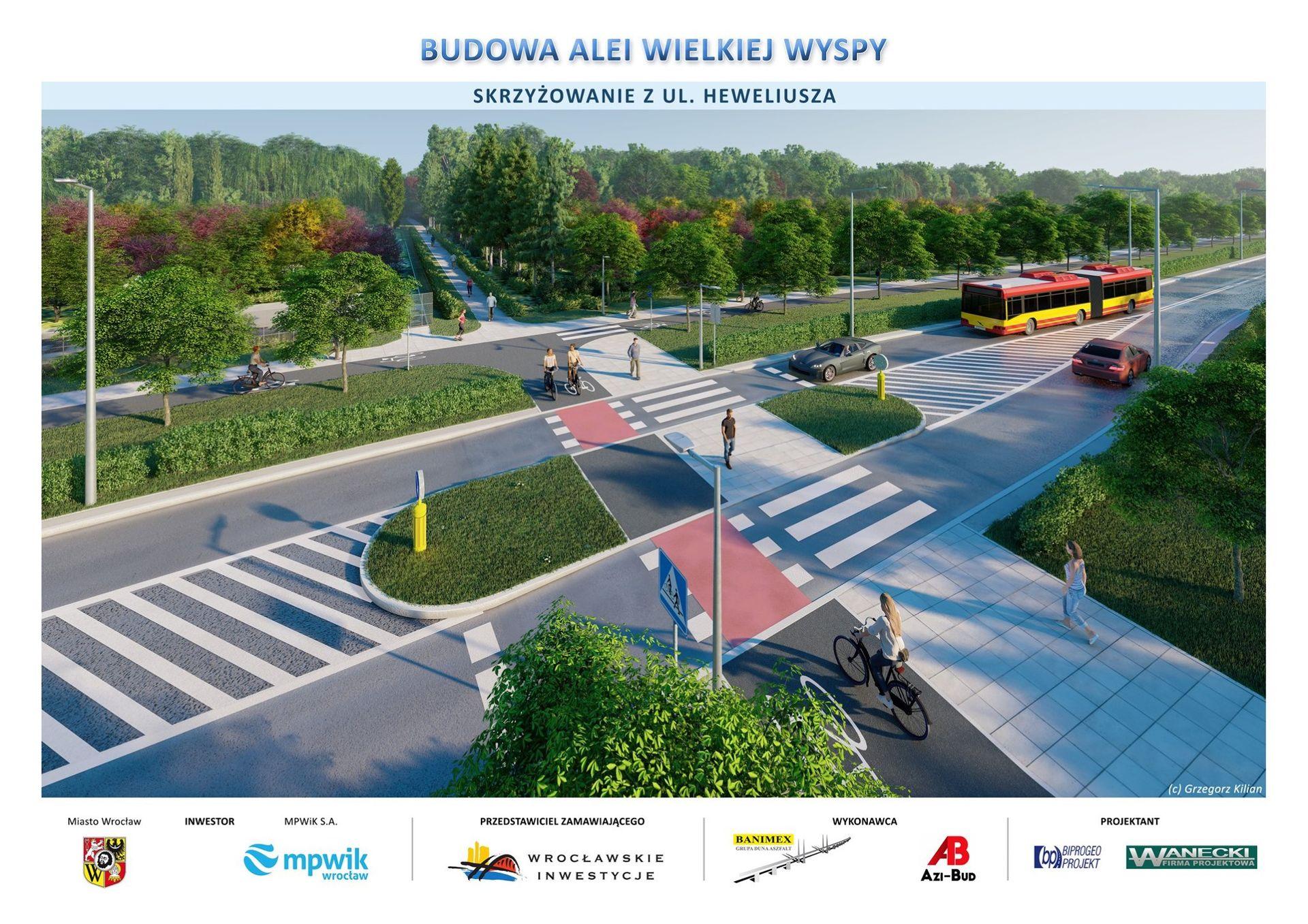 Wrocław: Budowa Alei Wielkiej Wyspy nie jest zagrożona [NOWE WIZUALIZACJE]