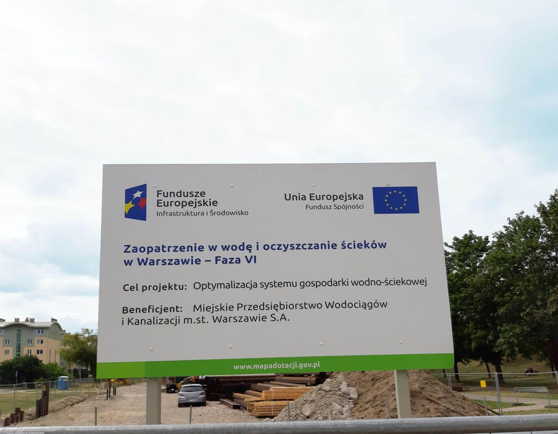 Budowa kolektora zachodniego w Warszawie zakończona