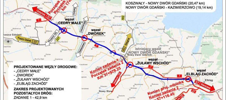 Realizacja trasy S7 na