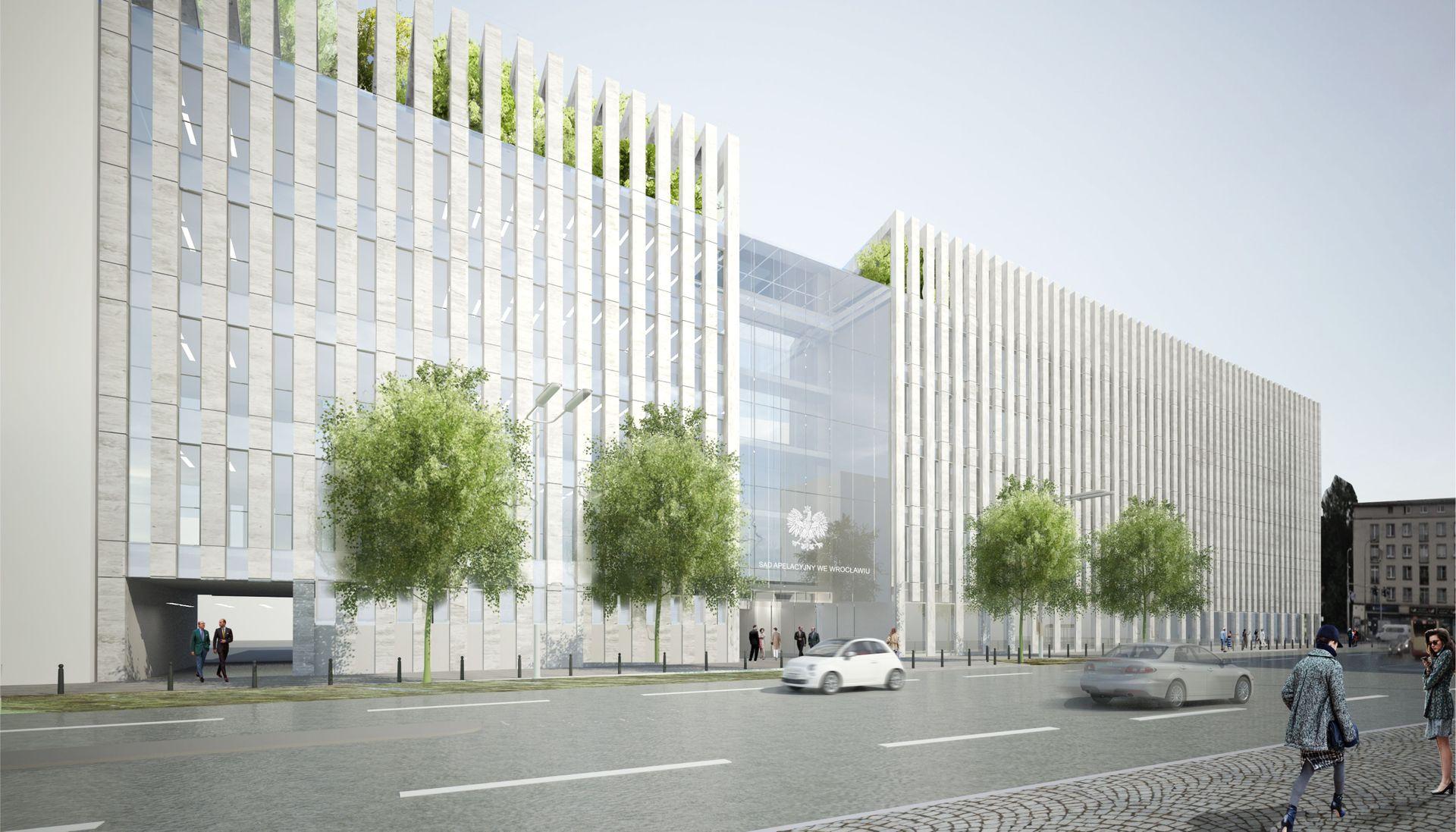 Wrocław: Budowa nowego gmachu sądu apelacyjnego coraz bliżej. Będzie jednak droższa